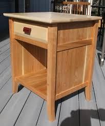 cherry and tiger maple nightstand by tomoose lumberjocks com