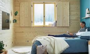 interieur chambre un bardage intérieur pour l isolation des murs de la chambre