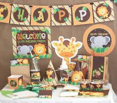 Diy 1st Birthday Centerpiece Ideas Jungle Safari Birthday Party Decorations Jungle Animals