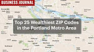 Zip Code Map Of Chicago by Is Your Zip Code One Of Portland U0027s Wealthiest Map Slideshow