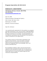 Federal Government Resume Samples by Program Specialist For Federal Government Cover Letter Samples And