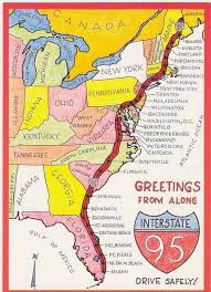 us interstate 95 i95 map miami florida to houlton maine us route
