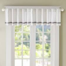 buy grey valance curtains from bed bath u0026 beyond