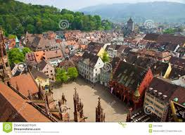 Germany Map Freiburg by Buildings In Freiburg Im Breisgau City Germany Royalty Free Stock