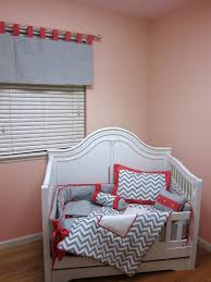 Coral Nursery Bedding Sets by Gray And Pink Chevron Crib Bedding Bonnybundle Com