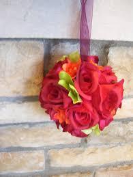 burgundy roses s burgundy flower girl pomander