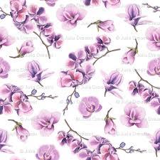 purple orchid flower purple orchid flower fabric dreams spoonflower