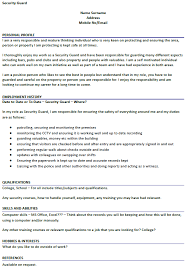 Sample Resume Security Guard by Security Guard Resume Sample Format Security Guard Resume Samples
