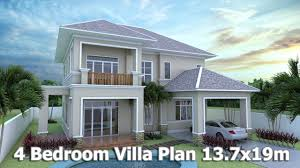 villa plan home design 3d sketchup villa plan 13 7x19m