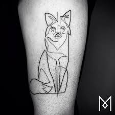 one continuous line tattoos by iranian german artist mo ganji