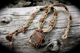 necklace hemp images Wire wrapped picture jasper healing hemp necklace by spectralsun jpg