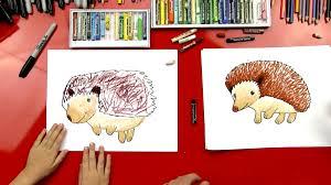 how to draw a hedgehog art for kids hub