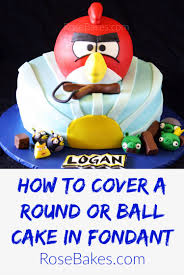 how to cover a round ball cake with fondant picture tutorial