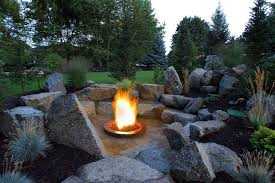 Glass Rocks For Fire Pit by Rock Fire Pits Landscape Modern With Fire Pit Beeyoutifullife Com