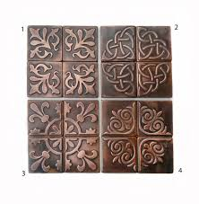 copper kitchen backsplash tiles copper kitchen backsplash set of 4 tiles rustic modern