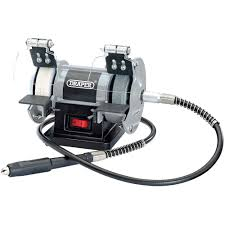 draper gd50w 3 u201d mini bench grinder with flexible drive shaft 230v