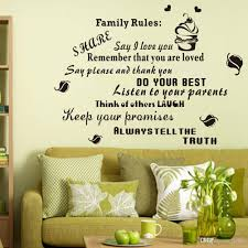 family rules black letters wall decals for home decoration vinyl see larger image