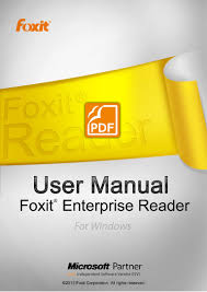 foxit reader manual 60