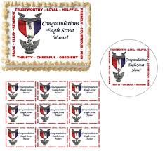 eagle cake topper scout court of honor scout edible cake topper image cupcakes