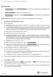 independent sole trader contractor agreement
