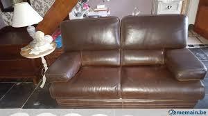 m canapé a vendre canapé cuir brun 2 places 1 75m a vendre 2ememain be