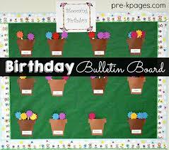 birthday board celebrating student birthdays in preschool pre k and kindergarten