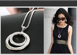 chunky necklace pendants images Wholesale 2015 hot long chain women fashion crystal rhinestone jpg
