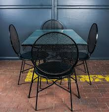 Mesh Patio Table by Wrought Iron Mesh Patio Set Designed By Maurizio Tempestini For