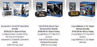 wii u price drop black friday game news sony black friday bundles drop price of ps3 and ps vita