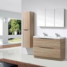 Oak Vanity Light Harbour Clarity 1200mm Floorstanding Double Basin Vanity Unit