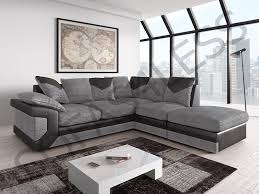 Corner Sofas Next Day Delivery Brand New Dino Corner Sofa In Two Tone Black Grey Or Brown Beige