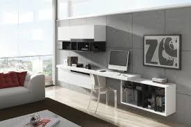 bureau gris laqué aménager un bureau dans le salon moderne carrelage mural gris taupe