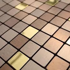 copper tiles for kitchen backsplash gold mosaic tiles self adhesive bronze brush metal aluminum plate