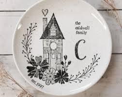 monogrammed platters family platter etsy