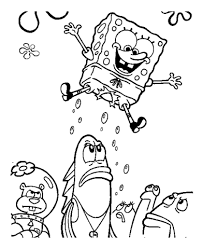 jumping spongebob coloring free printable coloring pages