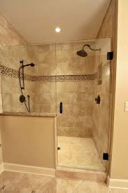 shower small space shower with cream wall and half oval frosted