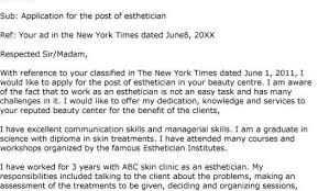 Esthetician Resume Cover Letter Esthetics Cover Letter Sample Esthetician Resume Resume Cv Cover