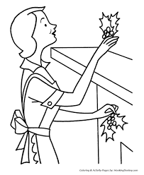 christmas decorations coloring pages christmas holly decorations