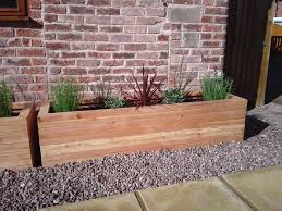 Garden Wall Troughs by Extra Large Trough 140cm X 30cm X 30cm Amazon Co Uk Garden