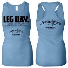 leg day womens workout racerback tank top ironville clothing