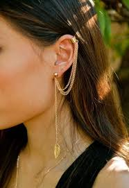 cuff earrings with chain jewels ear cuff earring cuff earrings ear chain gold ear cuff