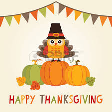 happy thanksgiving day card poster or menu design with bunting