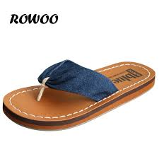 Comfort Shoes For Women Stylish New Women Fashion Denim Flip Flops High Quality Women Sandals