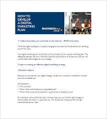 digital marketing plan template u2013 10 free word excel pdf format