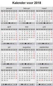 Kalendar 2018 Nederland Datum Vandaag Kalender 2018 Datum Jaar Kalender 2018