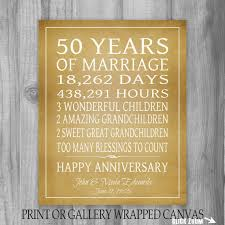 50th wedding anniversary ideas 30th 40th 50th wedding anniversary gift personalized gift for 50th