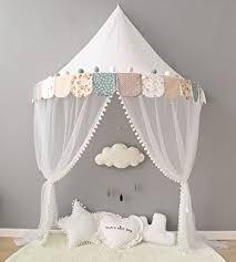 tente fille chambre lebze baldaquin ciels de lit dôme coton moustiquaire rideau de