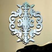 Damask Wall Decor Acrylic Wall Mirror Resin Wall Mirrors Dezign With A Z