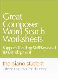 antonio vivaldi composer word search worksheet http