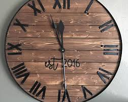 Rustic Wall Decor Large Wall Clock Etsy